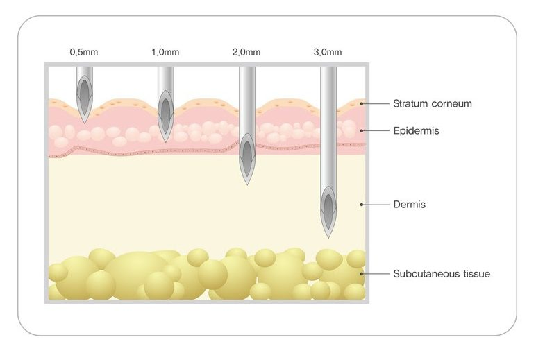 skin penetration depth